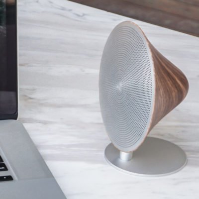 Read more about Mini Halo One Walnut Speaker