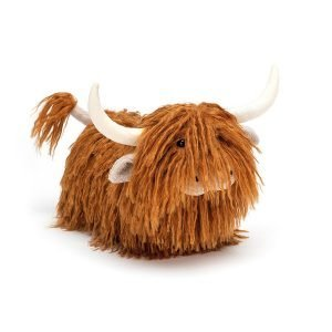 Jellycat Charming Highland Cow is a Cuddly toy given as a birthday gift