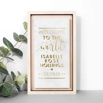 Read more about Personalised Welcome To The World Marble Stone Print