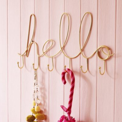 Read more about Gold Hello Wire Hooks