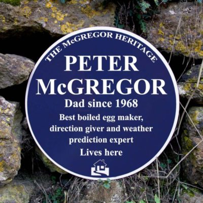 Read more about Personalised Blue Heritage Plaque
