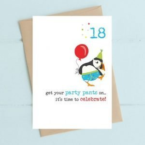 18th party pants card