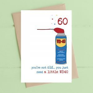 60th you're not old card