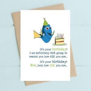 Dory Birthday card