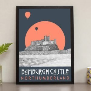 A print of Bamburgh castle