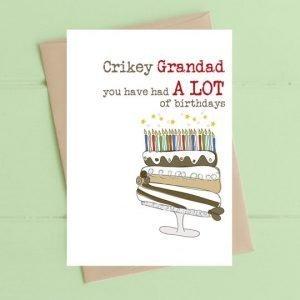 Crikey Grandad Card