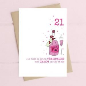 21st Champagne card