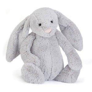 a huge 67cm high silver bashful bunny soft toy.