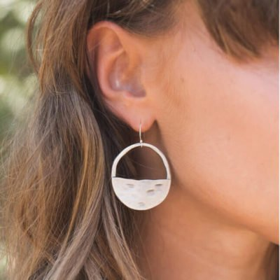 Read more about Silver Plated Large Inner Circle Earrings