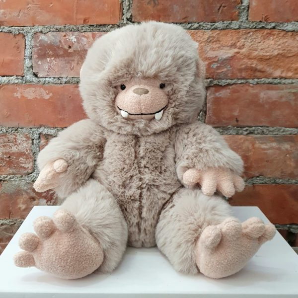 Jellycat Bo Bigfoot soft toy. A super cuddly soft toy that looks like a big foot baby