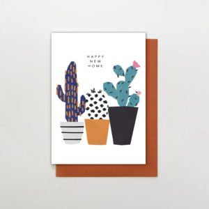 A new home card with an illustration of 3 cacti