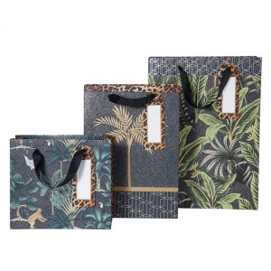 A choice of 2 sizes of jungle design adult gift bags