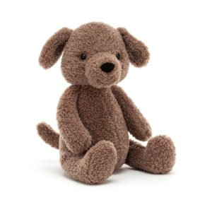 Doggy soft toy from Jellycat. A cute dog cuddly toy . Suitable from birth, a lovely gift for a new born baby,