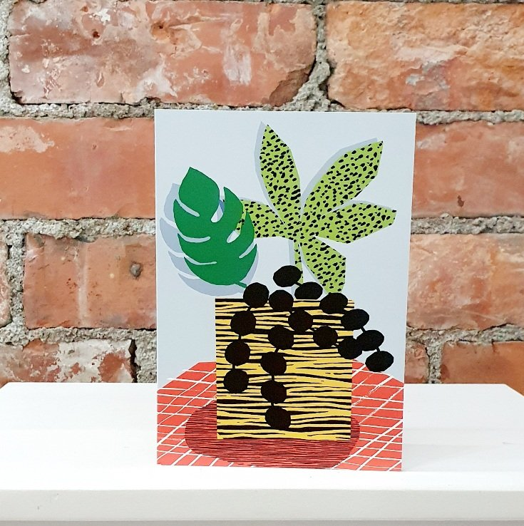 house plant blank greetings card from the dotty house