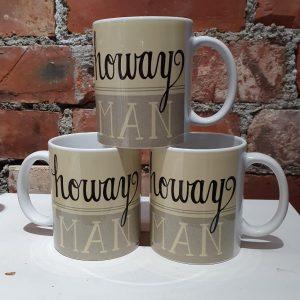 Geordie mug designed with Howay Man