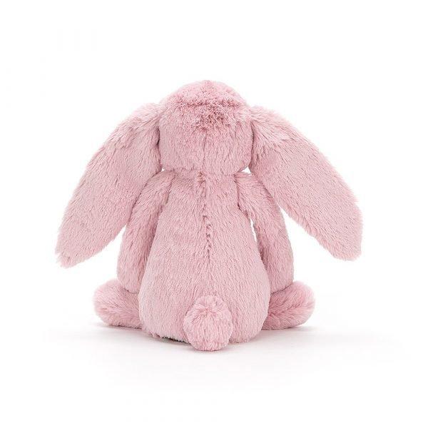 A beautiful dusky pink super soft rabbit cuddly toy