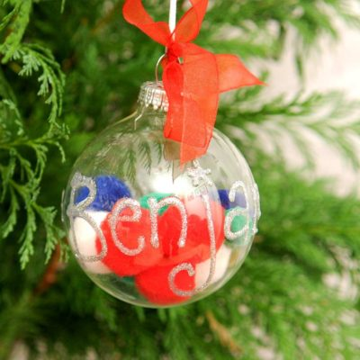 Read more about Clear Personalised Bauble