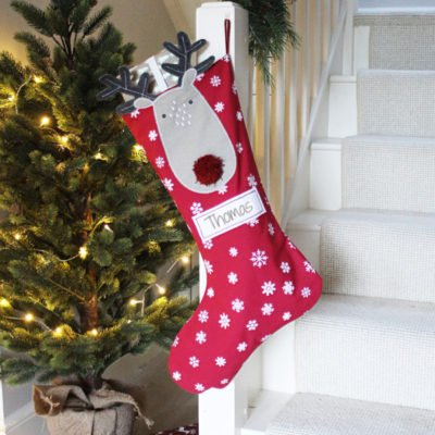 Read more about Reindeer Personalised Christmas Stocking