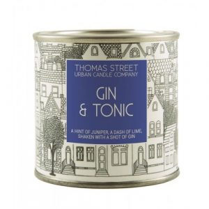 A hand poured Gin and Tonic scented soy wax candle from Thomas Street. Hand poured in England