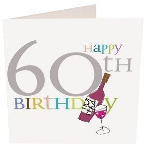 60th Birthday card from Caroline Gardner
