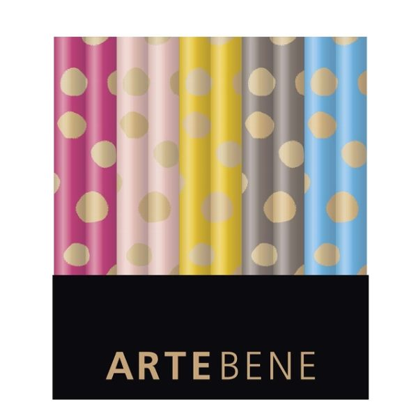 A box of multicoloured wrapping paper from Artebene