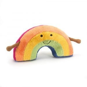 A cute rainbow soft toy from the Jellycat Amuseable range