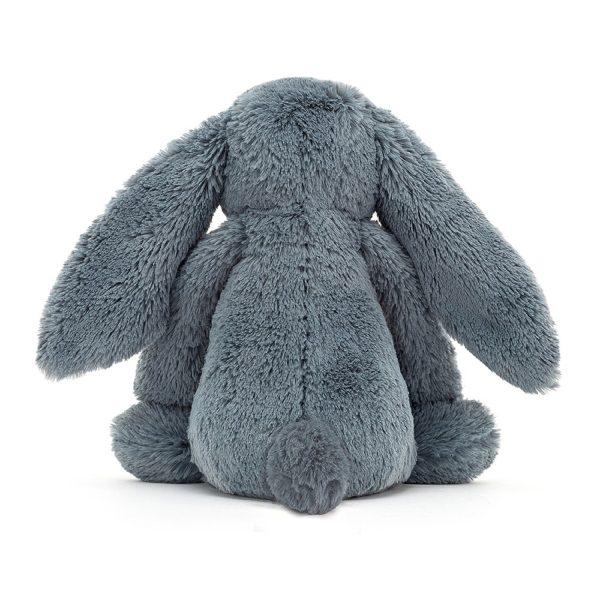 A sweet little dusky blue fluffy Jellycat bunny