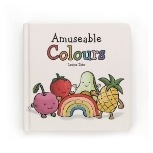 A children's book. Learn all about colours with this fun little book. A fun little avocado soft toy is available too.