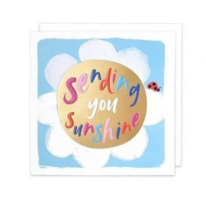 A bright little card with sending you sunshine message