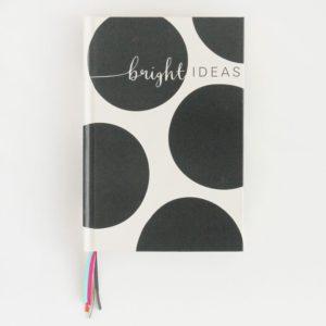 A striking black and white big spot notebook from designer Caroline Gardner