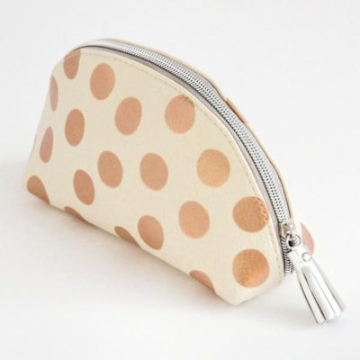 Read more about Metallic Spot Half Moon Cosmetic Bag