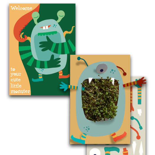 A brilliant card with an area to grow cress. The card includes the seeds. A great gift to give to a child learning about how things grow.