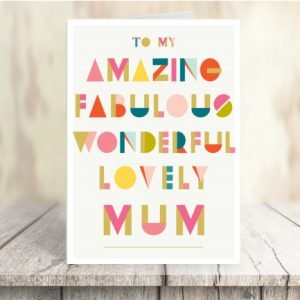 A multi coloured Mother's Day Card