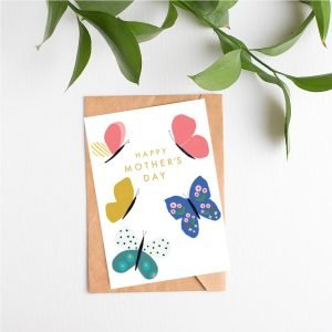 A sweet card for Mother's Day with colourful butterfly design.