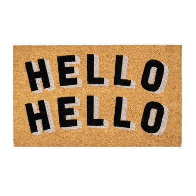 Read more about Hello Hello Black and White Coir Doormat