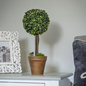 A faux topiary ball tree in a pot from Retreat Home